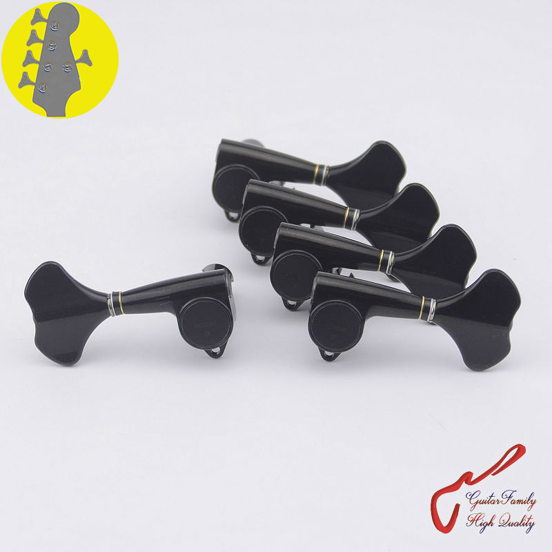 Original Genuine 4+1 GOTOH GB707 5 Strings Electric Bass Machine Heads Tuners ( Black ) MADE IN JAPAN