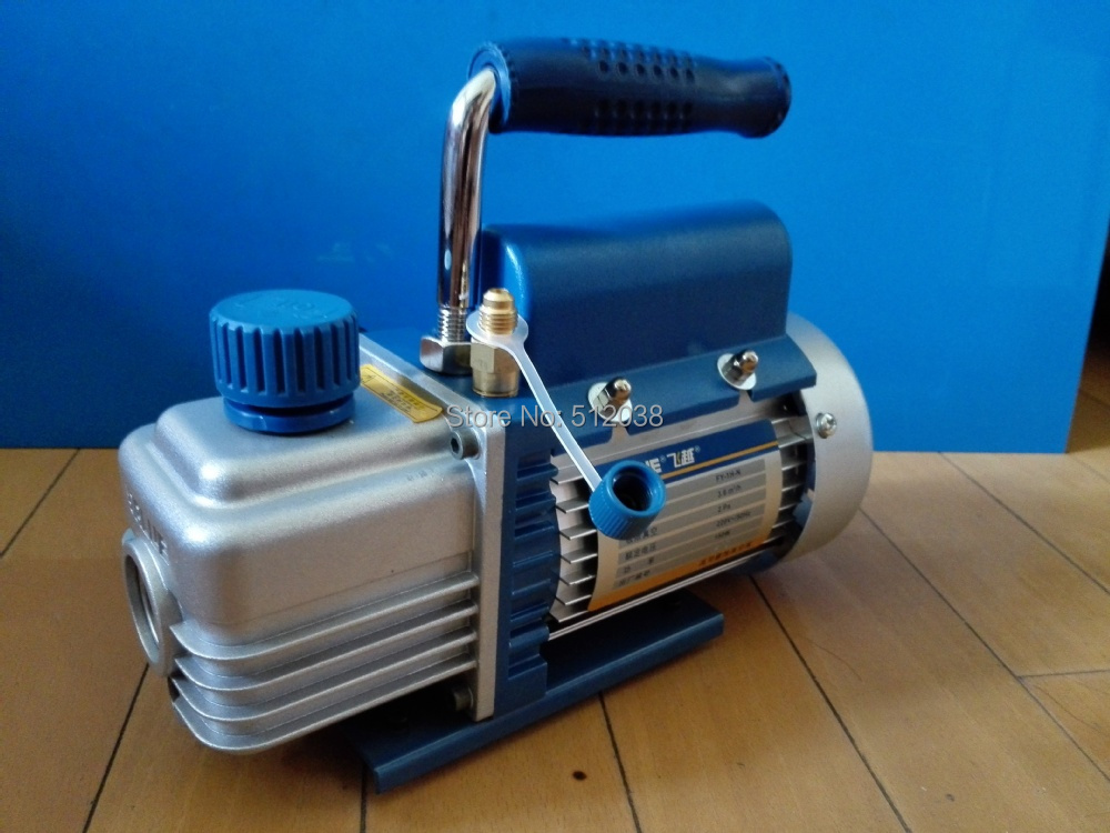 Single Stage Rotary Vane Vacuum Pump for Refrigeration Print Package etc... 2CFM 220V 150W