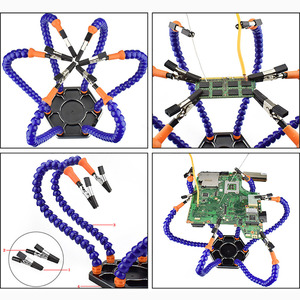 Image 4 - Helping Hands Soldering Tool 6 Flexible Arms Six Arm Soldering Station with Swiveling Alligator Clip for Repair Modeling Crafts