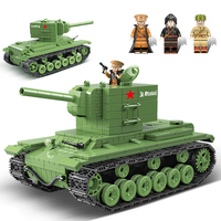 Military Tank Blocks Compatible Legoed City Army Weapons Bricks Action Soldier Fighter War Educational Tank Toys For Children