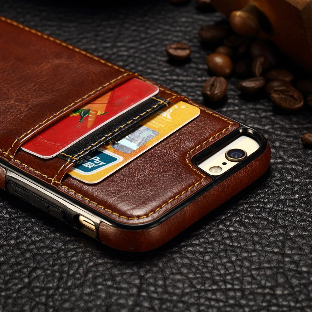 watch 9c787 f8515 US $3.99 |XBXCase TPU + PU Leather Credit Card Cover Case for iPhone 6 6S 7  8 Plus Luxury Case for iPhone X Xs Max XR XS With 2 Card Slots-in Fitted ...