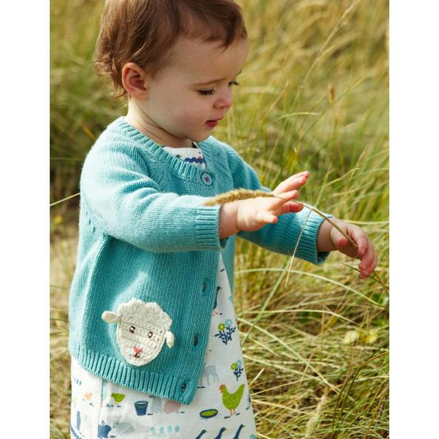 0321aaa16 Special Price Baby Girls Sky Blue Knitted Cotton Sweater Sheep ...
