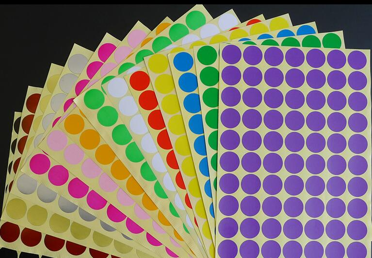 19mm Circles Round Code Stickers Self Adhesive Sticky Labels Blank Label