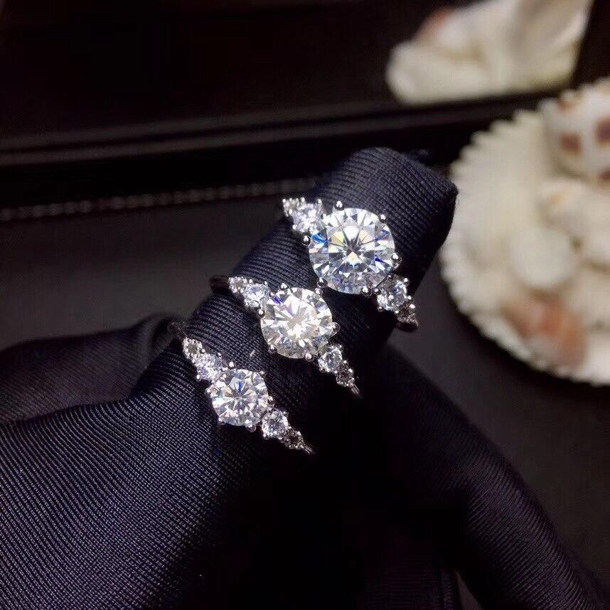Moissanite, carats 슈퍼 핫 판매, 다이아몬드와 비교, 절묘한 장인 정신-에서반지부터 쥬얼리 및 액세서리 의  그룹 2