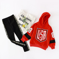 Little Girls Clothing Set 6 8 10 years Kids Clothes Sports Suit Long Sleeve Hoodies 2 pieces Girls Tracksuits Spring Outerwear