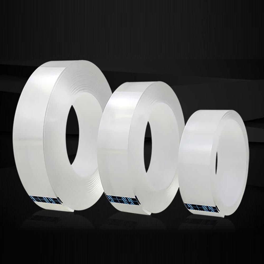 1/2M Nano Tape Double Sided Transparent Washable  Acrylic Reuse Waterproof Adhesive Cleanable Home Improvemen