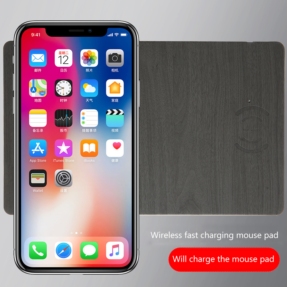 QI wireless charging computer mouse pad innovative practical wireless mouse pad charger leather wireless charger charging mouse in Mobile Phone Chargers from Cellphones Telecommunications