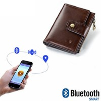 High end men's wallet leather smart Bluetooth anti lost anti theft multi function men's coin purse mobile phone bag