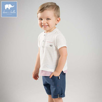 Dave bella fashion boys suits children high quality clothes baby handsome clothing sets kids printing costumes DB8277