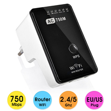AC750 Wireless N Mini Router Long Wifi Range Extender WPS Dual Band 2.4G/5G Wifi Repeater 802.11AC Wireless Signal Amplifier