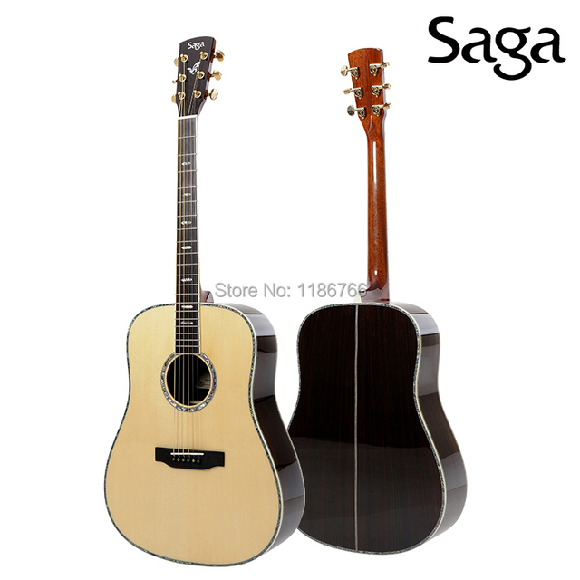 Free Shipping Solid Wood Acoustic Guitars With Beautiful Design By