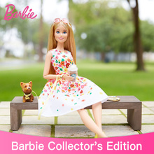 Genuine Black Label Blond Barbie The look Park Pretty Dolls Girls Toys Original Top Brand Christmas Birthday Gifts for Kids