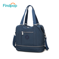 Findpop Women Handbag Satchels Nylon Fashion Black Blue Brown Coffee Leisure Tote Bags Shoulder Bag