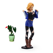 25 cm Anime Dragon Ball Z Android 18 Lazuli Action Figure PVC Sexy Girl Collectible Model Christmas Gift Toys For Children(China)