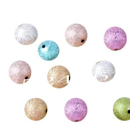 4 мм Размеры для изготовления ювелирных изделий Смешанные акриловые круглый шар Spacer Бусины ABS-Распорки кабошон ювелирные изделия Шамбала