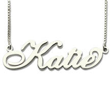 Personalized Carrie Style Name Necklace in Silver Custom Made with Any Fashion Jewelry Gift