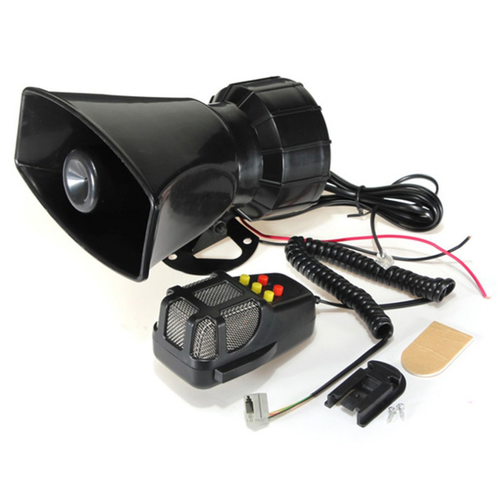 100W Car Siren Horn Durable 12V Vehicle Warning Alarm 120db Sound Loud Speaker Portable Motorcycle Siren Horn