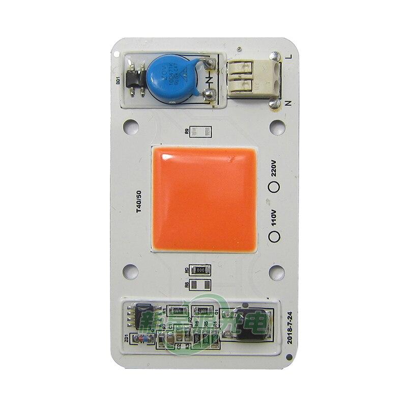 50w 220v Driverless LED Chip Light for Lamps Light DIY Full Spectrum Pink Plants Grow цены