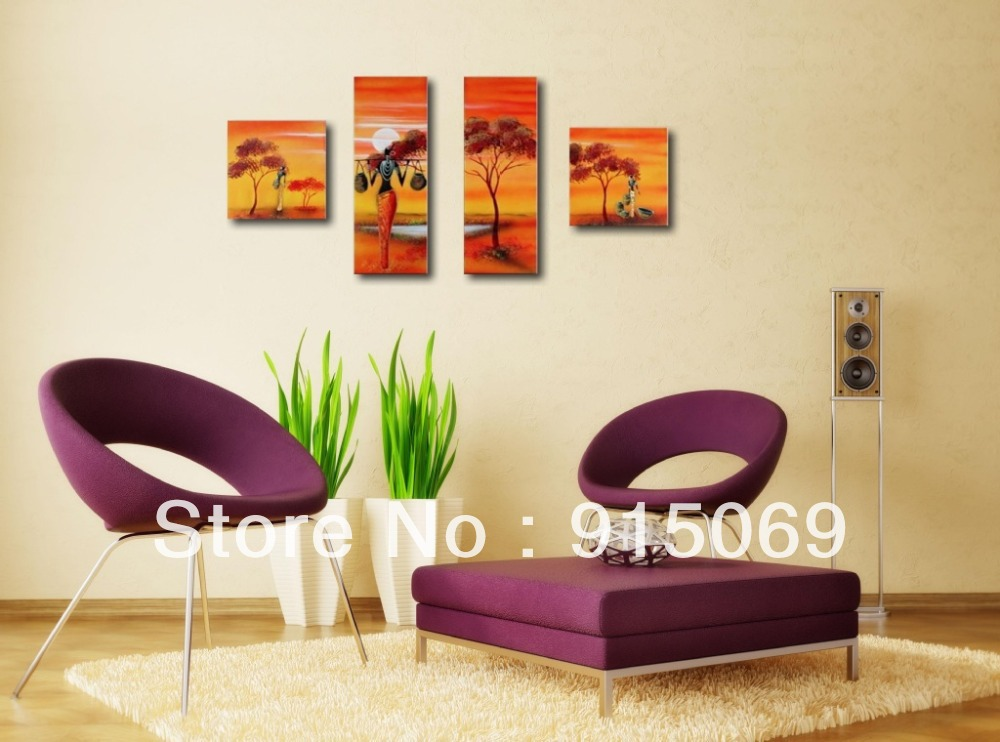 huge african style sunrise modern abstract wall art oil painting
