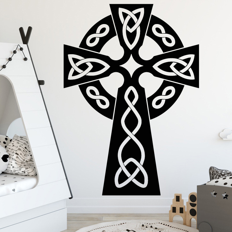 new design cross christian wall stickers for living room jesus god