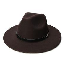 LUCKYLIANJI Retro Kid Child Vintage 100 Wool Wide Brim Cap Fedora Panama Jazz Bowler Hat Ring