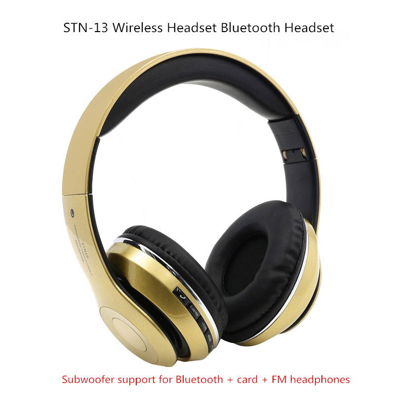 Burst STN-13 wireless headset Bluetooth headset bass stereo Bluetooth 4.2 card FM headset for mobile phone kicx stn 652