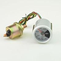 52 MM 7 Cores backlight unidade de medidor De Pressão De Óleo Medidor Medidor com Sensor de Auto Car 0-100 PSI Frete grátis