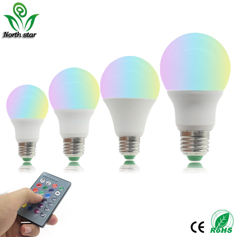 где купить High Qulity 5W 7W 9W E27 RGB LED Bulb 16 Color Change RGB Lamp spot light 85-265v+Remote control ampolleta led rgb with memory по лучшей цене