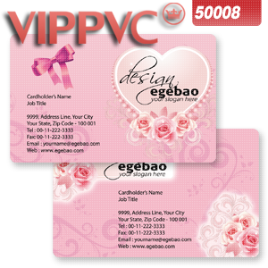 a50008 PVC card online printing for Matte plastic card Double faces Printing CR80X0.38mm -