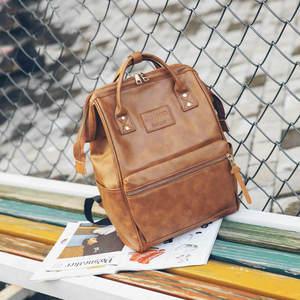 Image 2 - Women Fashion PU Leather Female Backpack Bag Korean Multifunction School Bag Teenage Girls Large Capacity Waterproof Backpacks