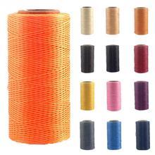 250 метров 1 мм вощеная нить хлопок полиэстер струнный ремешок Ожерелье Веревка бисер швейное ремесло для кожи Кафт строчка