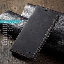 Магнит кожаный бумажник чехол для iphone 6 S 7 8 плюс iphone XS Max XR слот для карты откидная крышка iphone X чехол для iphone 6 s 7 Plus