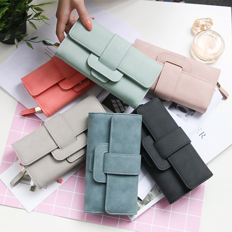 2018 New Women Wallet PU Leather Purse Card Holder Clutch Long Multi-card Bit Coins Purses WML99