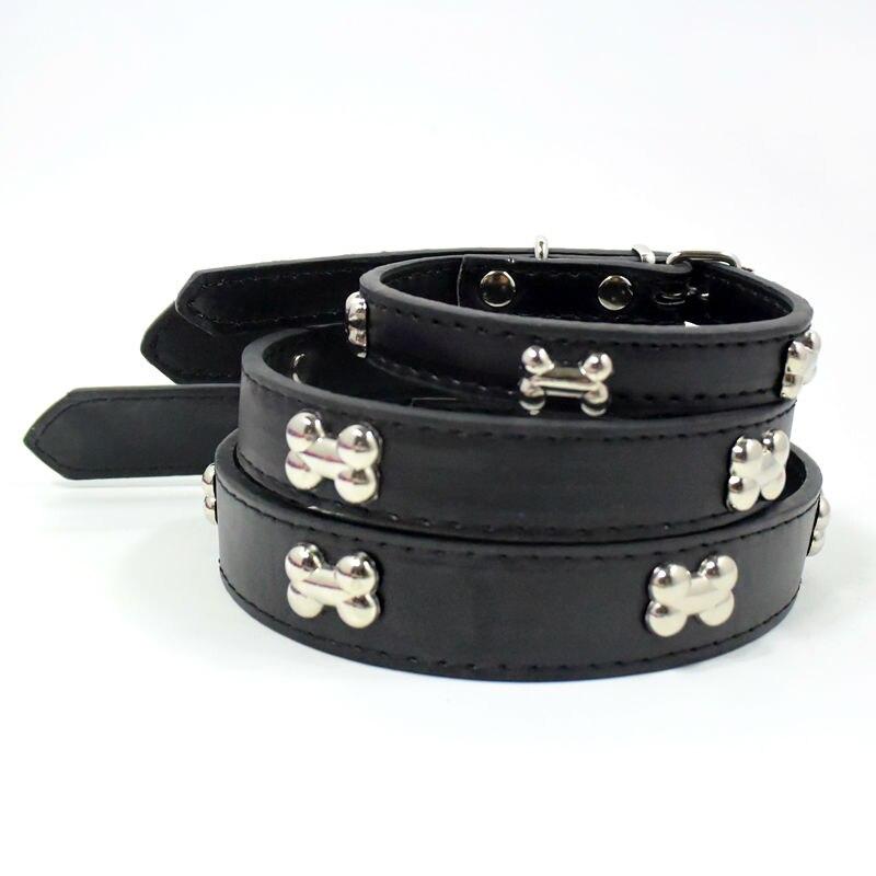 Moda creativa Hueso Estilo PU Collar Para Perro Pequeño Gato Collares de Perro Arnés Del Perro Accesorios Productos Para Mascotas Al Por Mayor Ventas de Navidad