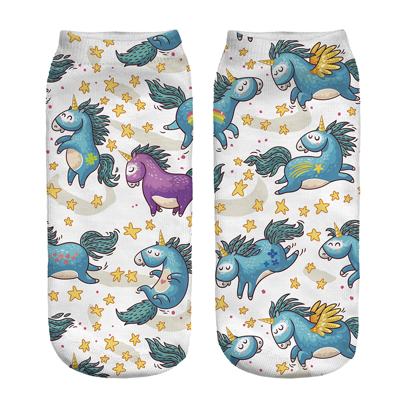 Beautiful New Lovely pattern 3D Print <font><b>Animal</b></font> Women <font><b>Socks</b></font> Casual cartoon <font><b>Socks</b></font> <font><b>Unisex</b></font> Low Cut Ankle <font><b>Socks</b></font> Colorful image