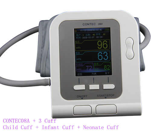 цена на Free Shipping+CONTEC 08A BP Monitor, Heart Beat Meter, LCD Free Shipping