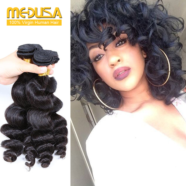 Peruvian Loose Wave Virgin Hair 4 Bundles Human Hair Weave Wholesale
