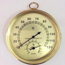 Термометр и гигрометр для сауны, чехол из нержавеющей стали, термометр для паровой сауны, гигрометр для ванны и сауны, для использования в помещении и на открытом воздухе