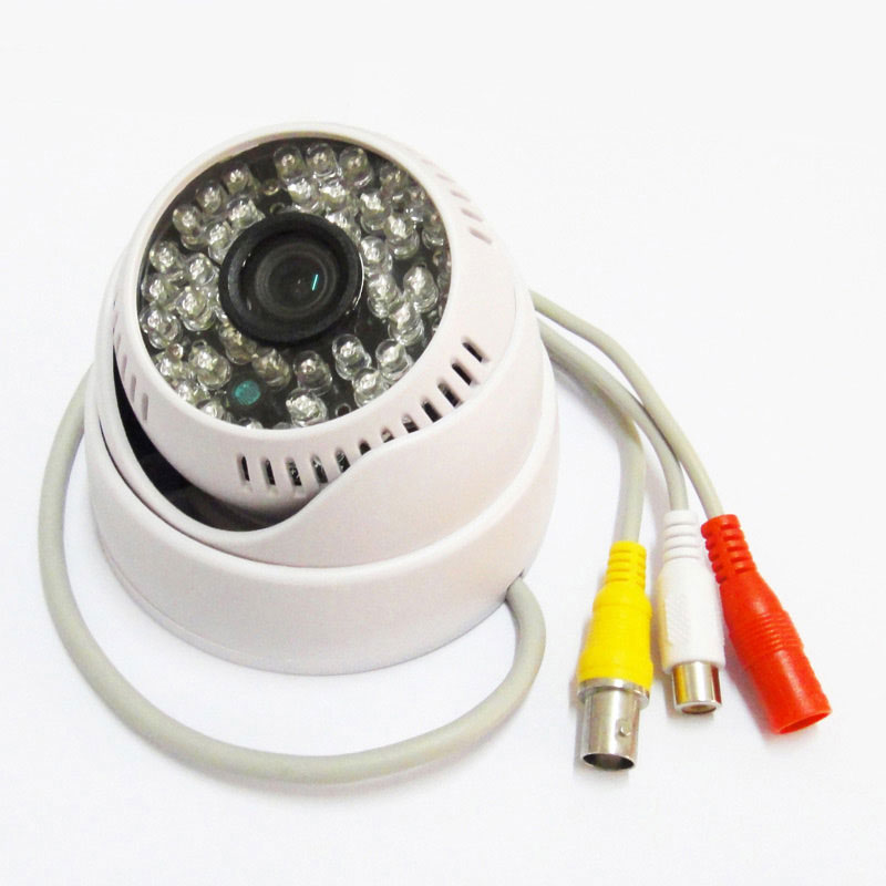 1/3 700TVL Sony CCD IR Color Security CCTV Camera Dome Indoor Mic 48Leds D/N with Audio Cam metal dome cctv camera 1 3 sony ccd 700tvl varifocal 3 5 8mm indoor ceiling installation cbdz