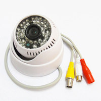1/3 700TVL Sony CCD IR Color Security CCTV Camera Dome Indoor Mic 48Leds D/N with Audio Cam