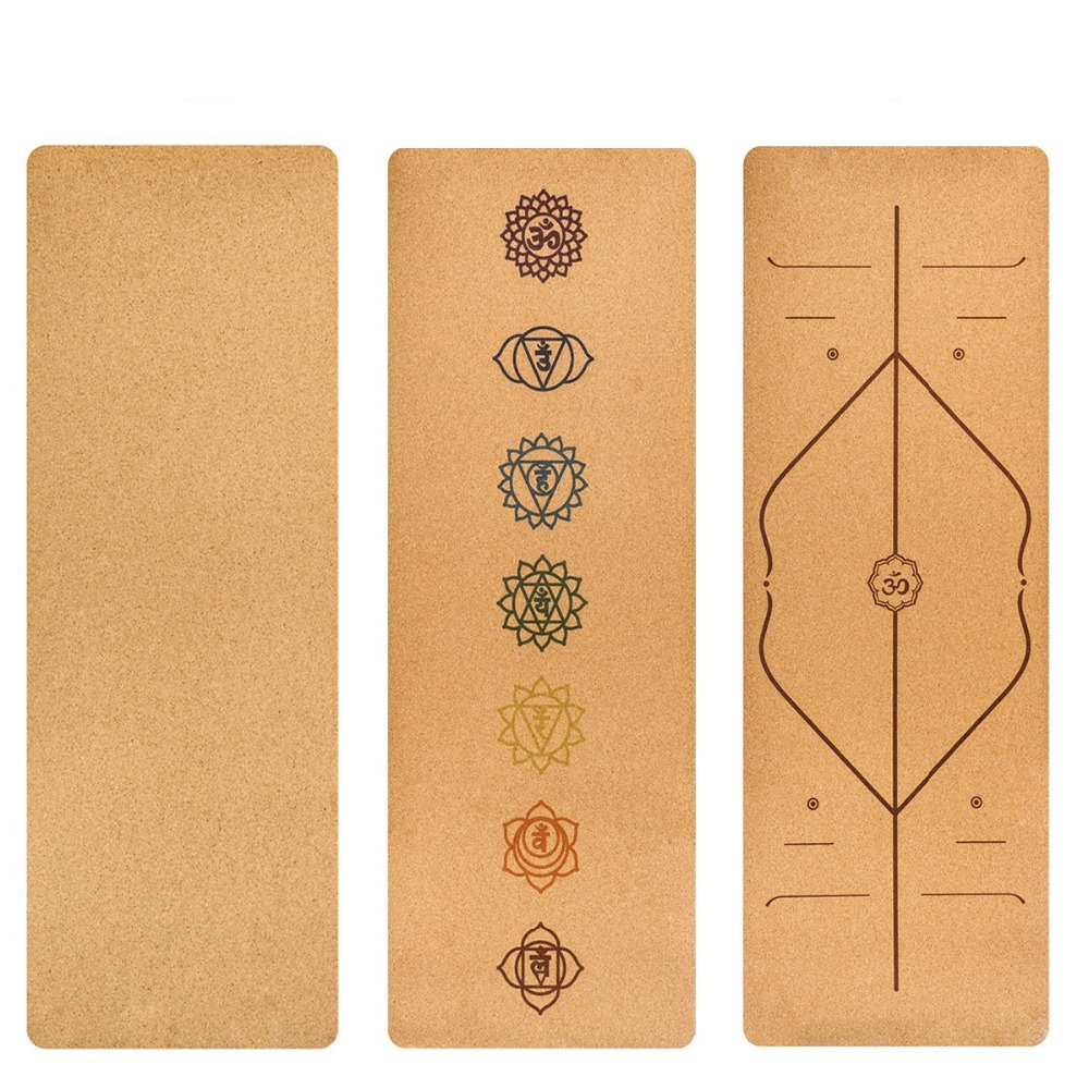 183X68cm Natural Cork TPE Yoga Mat Fitness Gym Sports Mats Pilates Exercise Pads Non-slip Yoga Mats 5mm Absorb Sweat Odorless