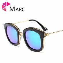 MARC UV400 MULHERES HOMENS óculos de sol Azul Espelho Oculos eyewear gafas  de sol Goggle Brown Envoltório clássico olho de Gato . ae787ad6c3