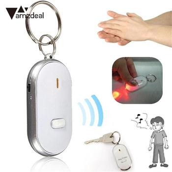 Amzdeal Sound Control Alarm LED Smart Key Finder Anti lost Tag Child Bag Pet Locator Find Keys Keychain Tracker Random Color