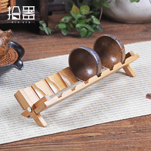 2017 Hot Handmade Bamboo Cup Holder Wood Storage Rack Water Bottle Mount Kitchen Tea Set Accessories Drink Gift