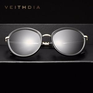 Image 2 - VEITHDIA Acetate Frame Womens Sun glasses Polarized Mirror Lens Luxury Ladies Designer Sunglasses Eyewear For Women oculos 3050
