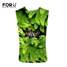 FORUDESIGNS Fitness Tank Top Men Bodybuilding Clothing 3D Printing Summer Sleeveless Crossfit Vests Cotton Singlets Muscle Tops