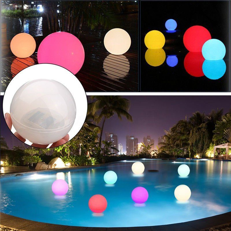 Multicolor LED Solar Fair Ball Light Outdoor Swimming Pool Floating Light Holiday Xmas Garden Wedding Halloween Home Decoration