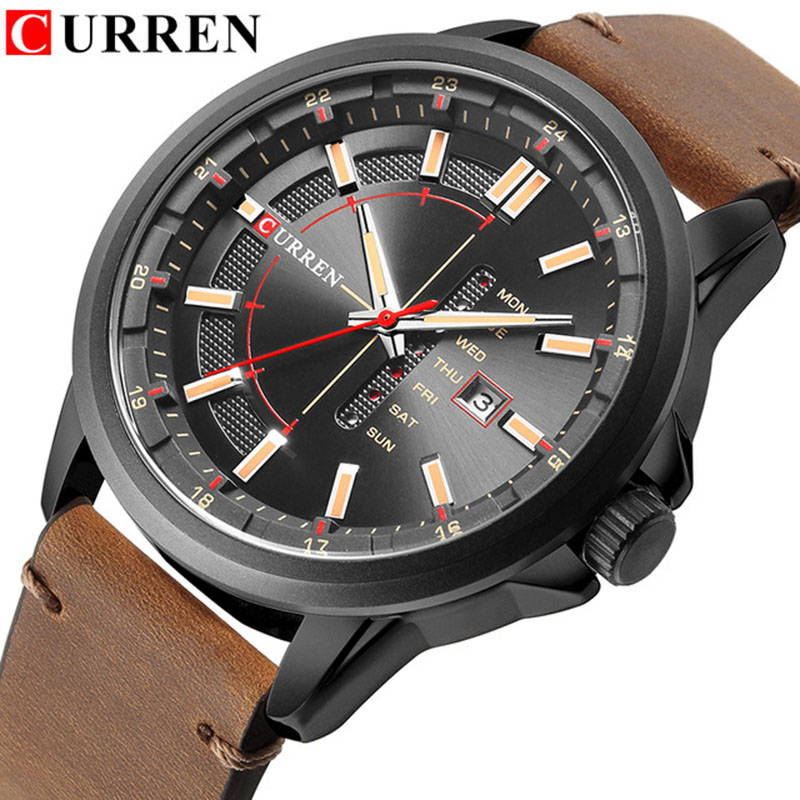 CURREN 8307 relogio masculino CURREN Watch Men Military Quartz Watch Mens Watches Top Brand Luxury Leather Sports Wristwatch curren m8113