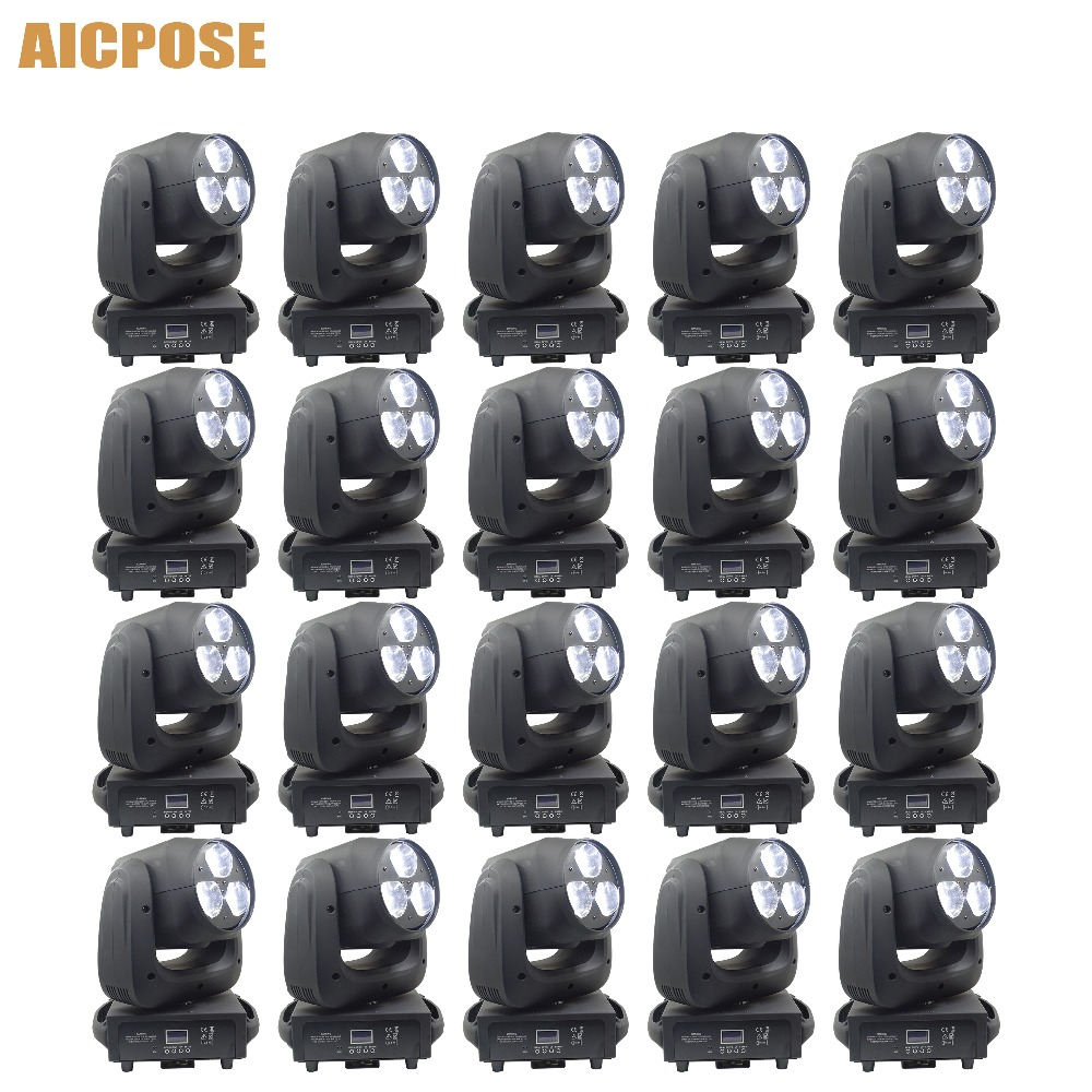 20pcs/lots 3x40W Moving Head Light RGBW 4IN1 LED Bee Eyes Beam Light With Zoom Stage Lights Show Party Wedding Light|Stage Lighting Effect| |  - title=
