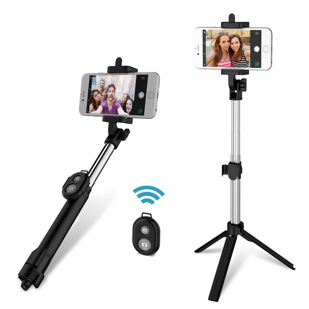 4 In 1 Selfie Stick Mini Tripod Self Stick Bluetooth Remote Shutter Multifunctional Handheld Extendable Monopod For iPhone 7 3 in 1 handheld bluetooth selfie stick for iphone x 8 7 6s plus wireless remote shutter monopod portable extendable mini tripod